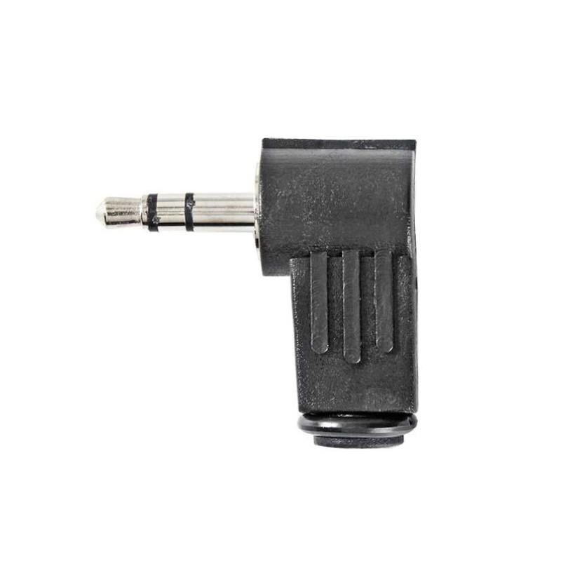 Jack 3,5mm Stekker Haaks - Stereo - Soldeerbaar - image #1