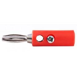 Banaanstekker - Schroefbaar - Rood - image #1