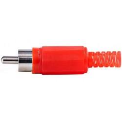 RCA Stekker - Soldeerbaar - Rood - image #1