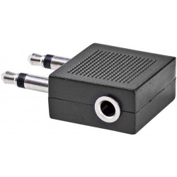 2x Jack 3,5mm Mono - 3,5mm Contra Stereo - Vliegtuigadapter - image #1