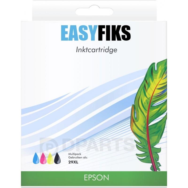(Easyfiks) Epson 29XL Inktcartridge - Combipack - Zwart, cyaan, magenta en geel - image #1