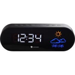 Wekkerradio met dubbel alarm - Met weervoorspelling - Zwart - image #1