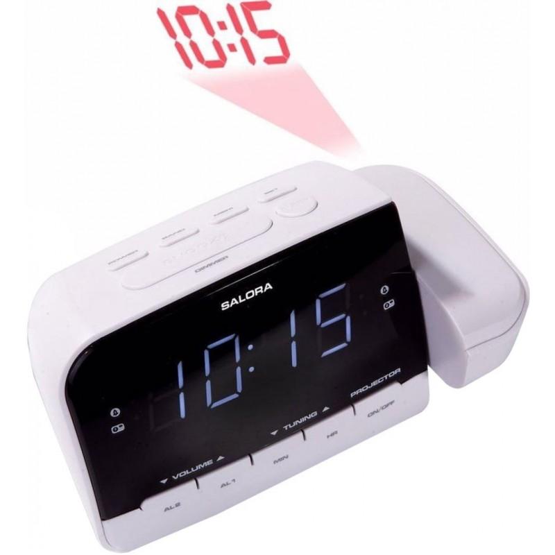 Wekkerradio met projectie - Met dubbel alarm - Wit - image #1