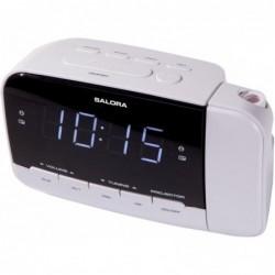 Wekkerradio met projectie - Met dubbel alarm - Wit - image #2