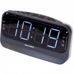 Wekkerradio met dubbel alarm - Zwart - image #1
