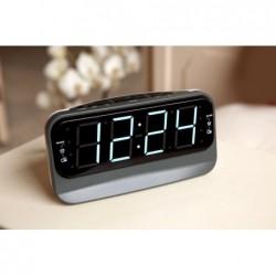 Wekkerradio met dubbel alarm - Zwart - image #2