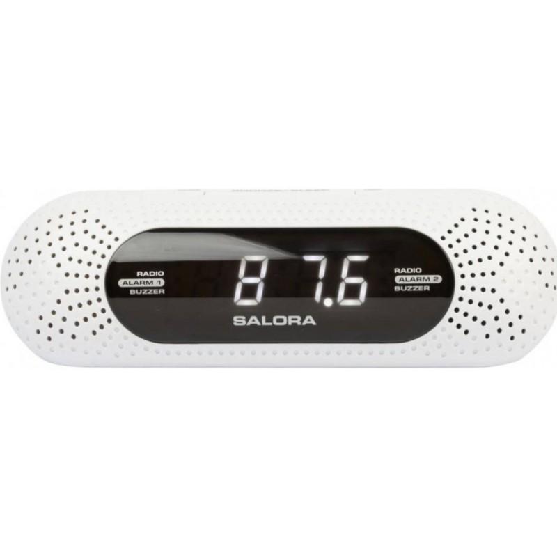 Wekkerradio met dubbel alarm - Wit - image #1