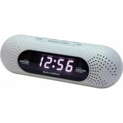 Wekkerradio met dubbel alarm - Wit - image #3