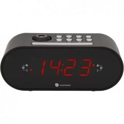 Wekkerradio met projectie - Met dubbel alarm - Zwart - image #1