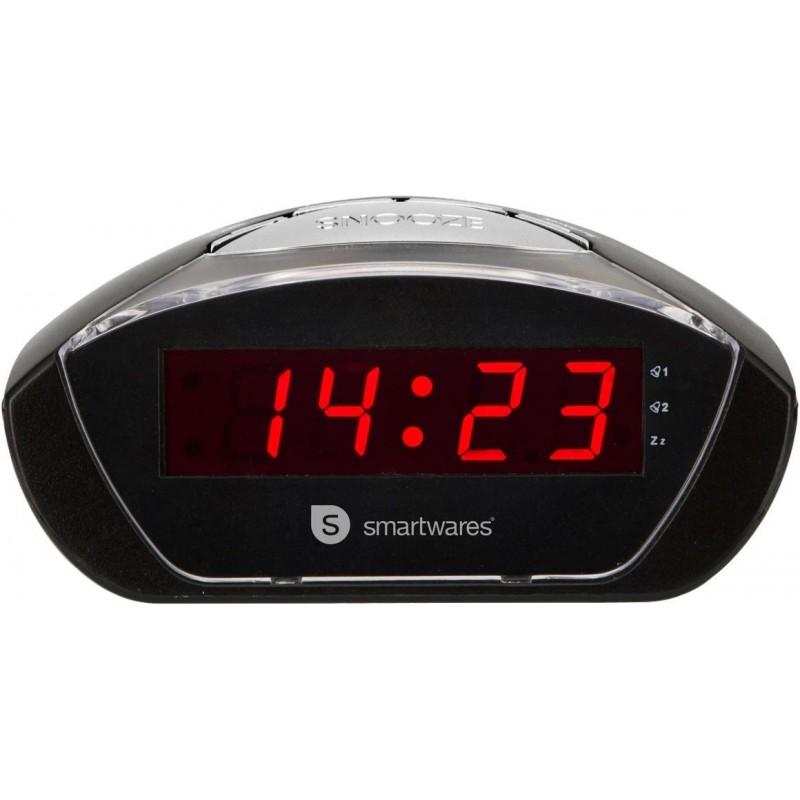 Wekker met dubbel alarm - Zwart - image #1