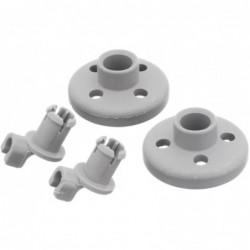 Bosch 00066320 Wiel van onderkorf voor vaatwasser - 2 stuks - image #1