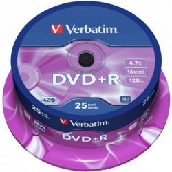 Verbatim DVD+R AZO 25 stuks 4.7GB Spindle - image #1