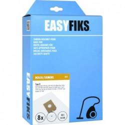 Easyfiks B18 - Stofzuigerzakken - Geschikt voor Bosch/Siemens Big Bag 3L, Arriva, Smily, Type K - 8 stuks - image #1