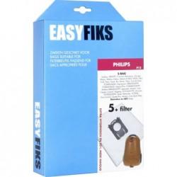 Easyfiks P12 - Stofzuigerzakken - Geschikt voor Philips S-Bag, Perfomer, Mobilo - 5 stuks - image #1