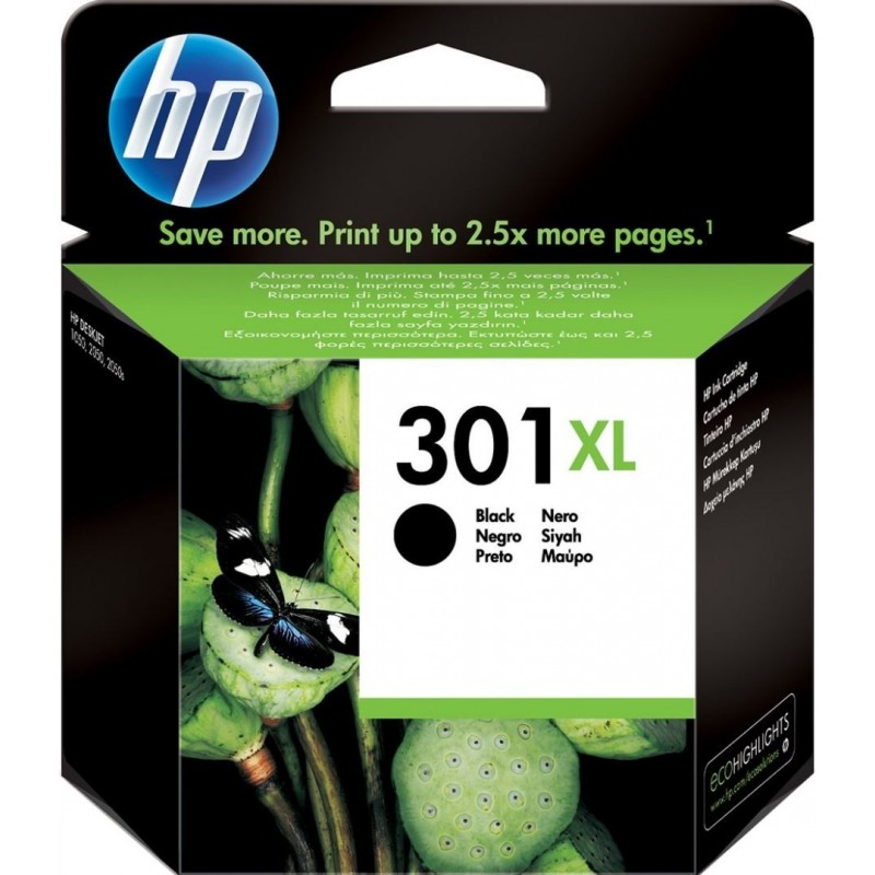HP 301XL Inktcartridge - Zwart - image #1