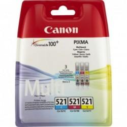 Canon CLI-521 Inktcartridge - Combipack - Cyaan, magenta, geel - image #1