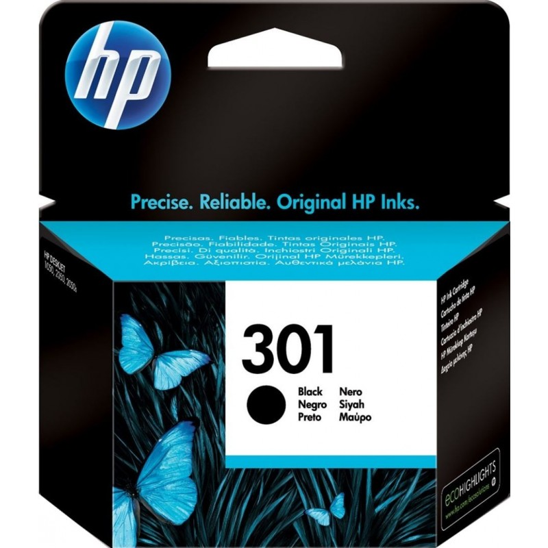HP 301 Inktcartridge - Zwart - image #1