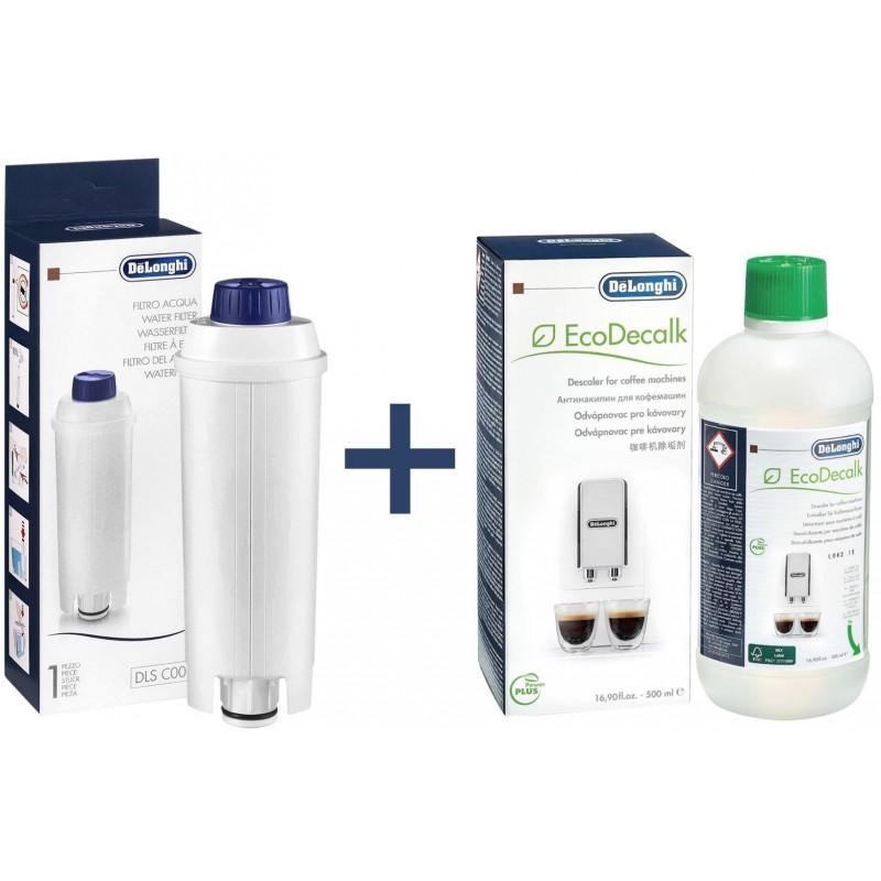 Delonghi Waterfilter + Koffiemachineontkalker 500ml - Onderhoudsset - image #1