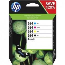 HP 364 Inktcartridge - Combipack - Zwart, cyaan, magenta, geel - image #1
