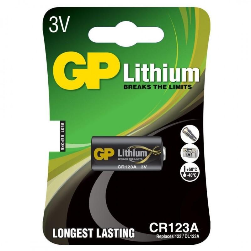 GP Lithium CR123A Batterij - 3V - image #1