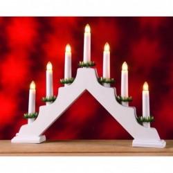 XMAS Kersttrap 7 Kaarslampjes Wit - image #1