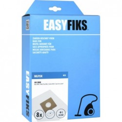 Easyfiks N25 - Stofzuigerzakken - Geschikt voor Nilfisk Coupe, Go Serie, Bravo, GM100 - 8 stuks - image #1