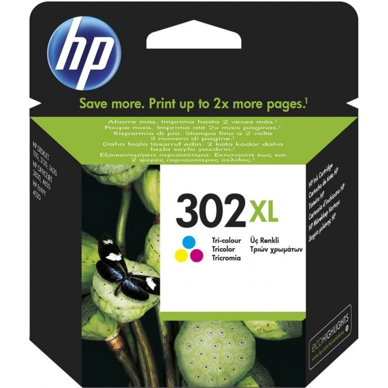 HP 302XL Inktcartridge - Kleur - image #1
