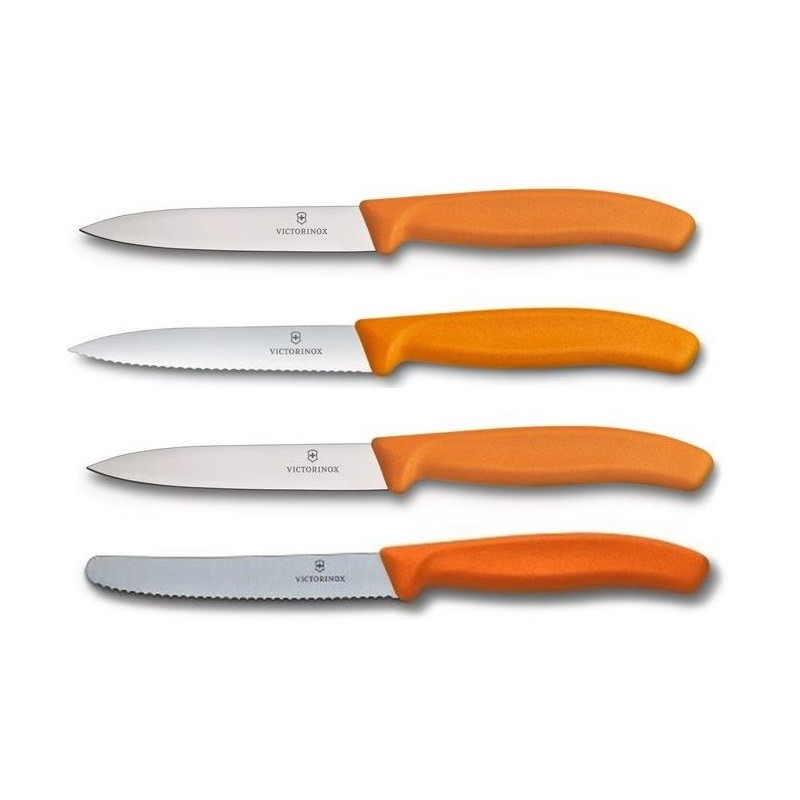 Victorinox 4 Verschillende Keukenmesjes / Schilmesjes - Oranje - image #1