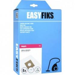 Easyfiks P18 - Stofzuigerzakken - Geschikt voor Philips Geneva, Mosquito - 8 stuks - image #1