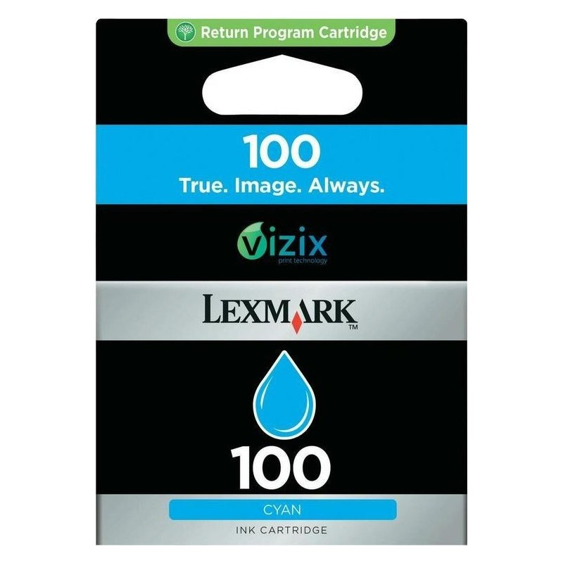 Lexmark 100 Inktcartrdige - Cyaan - image #1