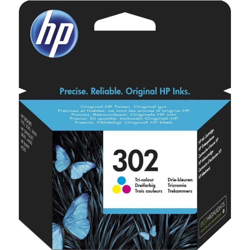 HP 302 Inktcartridge - Kleur - image #1